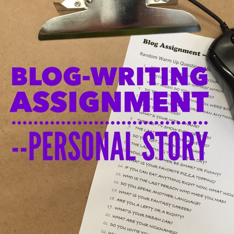 Writing assignment for you