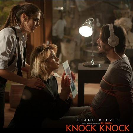 Keanu Reeves, Lorenza Izzo and Ana De Armas - Knock Knock