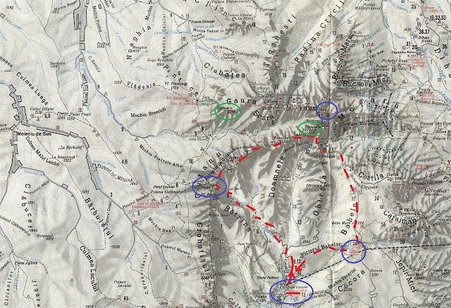 Pestera - Valea Doamnele - Batrana - Vf. Gavanele - sub Omu - Babele - Pestera