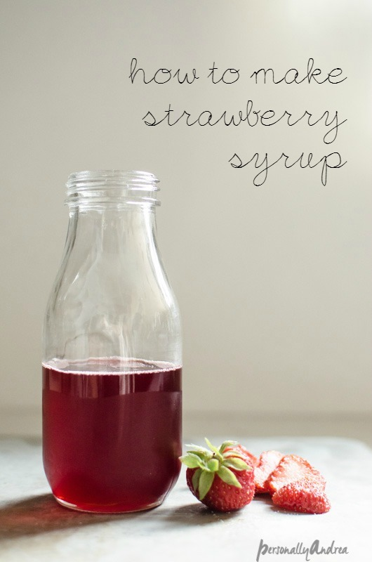 How to Make Homemade Strawberry Syrup