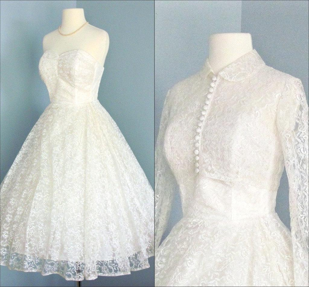 1950s Tea Length Wedding Dress