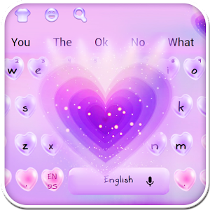 Love Purple Keyboard Theme