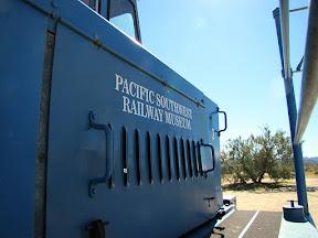Cool little train engine at Dos Cabezas