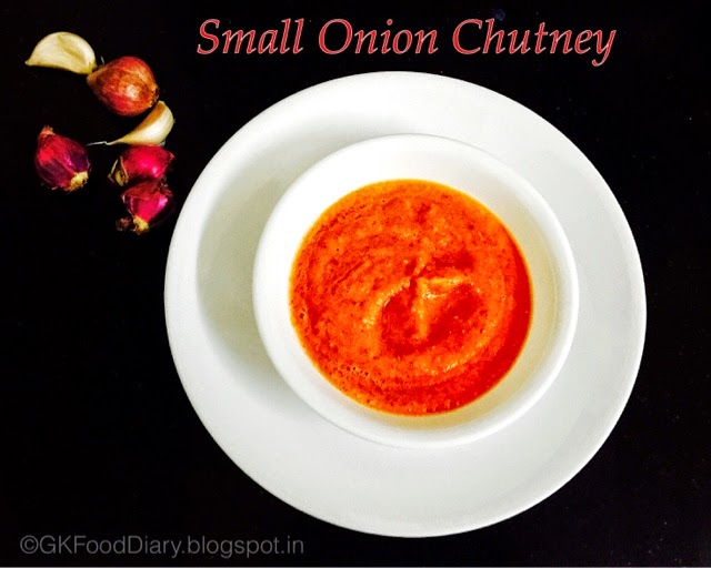 Small onion Chutney Recipe