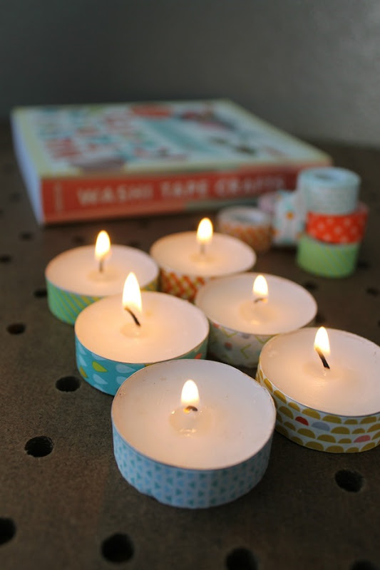 washi tea light crafts