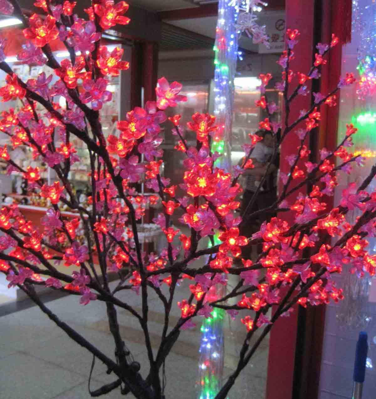 Christmas flower tree lights