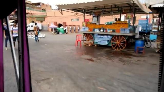 morocco marrakech orange juice stall dejamaa lefna