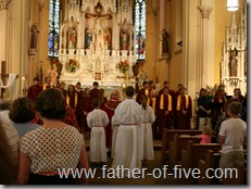Fr Yanta blessing the graduates