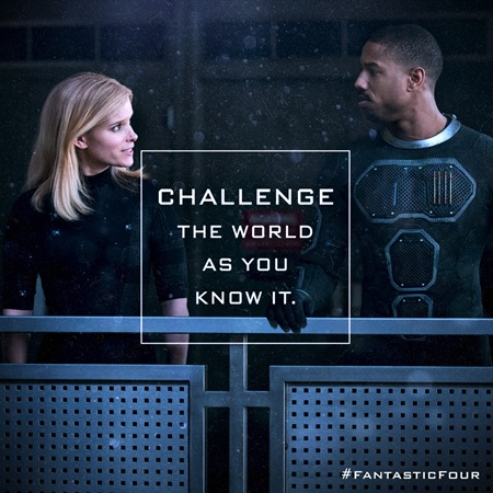 kate mara and michael b jordan FANTASTIC FOUR