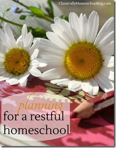 restful homeschool