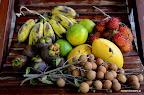 Dzień w Ben Lung zaczynaliśmy od dużej porcji owoców - oto nasze śniadanie