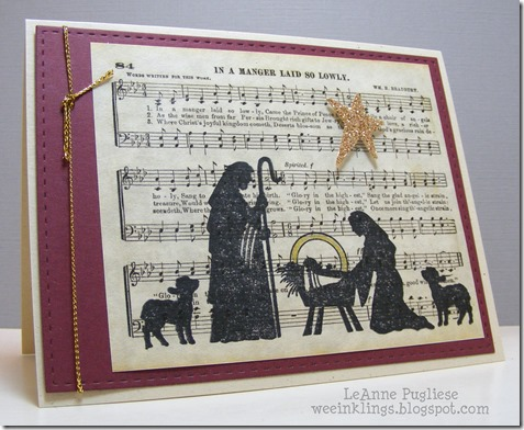 LeAnne Pugliese WeeInklings Stampendous Nativity Christmas