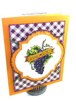 Linda Vich Creates: Gardening With Market Fresh: Part One. A bold combination of orange and purple shows the grapes from Market Fresh to their best advantage!