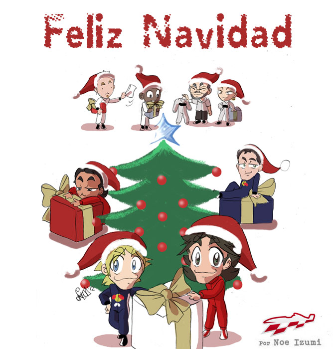 Chibis Merry Christmas 2012 by Noe Izumi