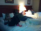 Hanging out in the hotel room in OH 02182012