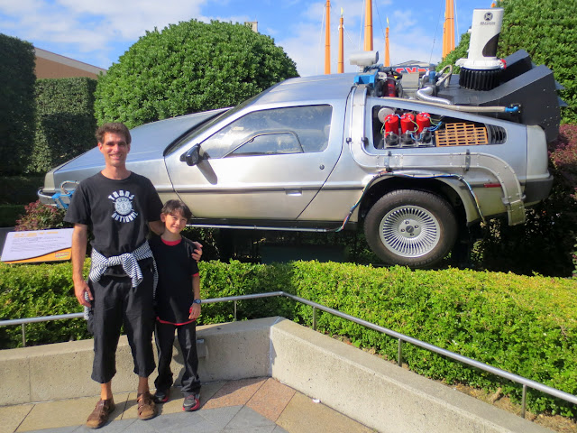 Outside the Back to the Future ride
