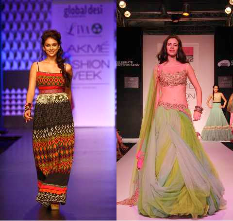 Lakme India Fashion Week - Bollywood Fashion Trend of Red Lips Worn By Aditi Rao and Kalki Koechlin