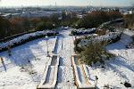 Parc de Belleville : sous la neige