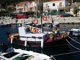 In de haven van Agia Efimia.