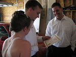 Jeff shows them their displayable wedding certificate