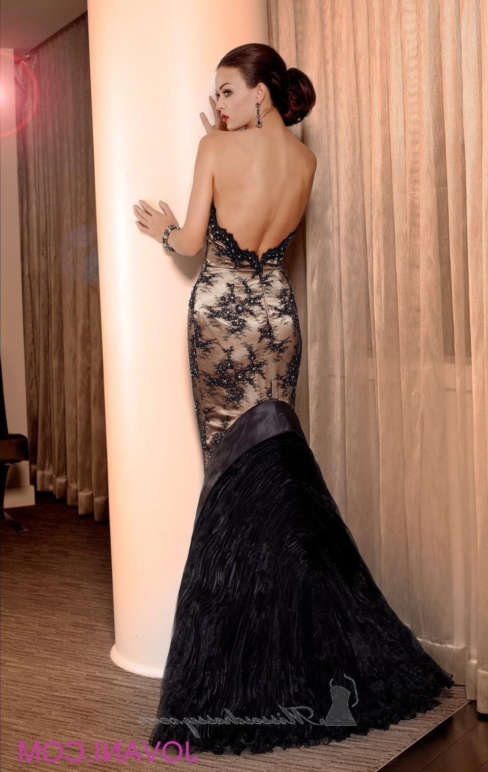 Lace Detail Evening Gown