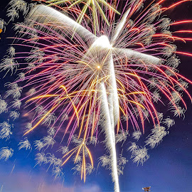 Riverside Park 4th of July by Jason Lockhart - Public Holidays July 4th ( wisconsin, watertown, 4th of july, fireworks, riverside park )