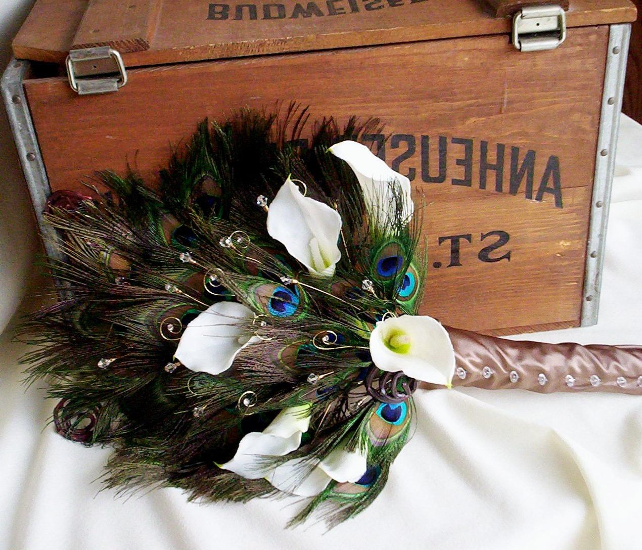 Bouquet Peacock Fan Bridal