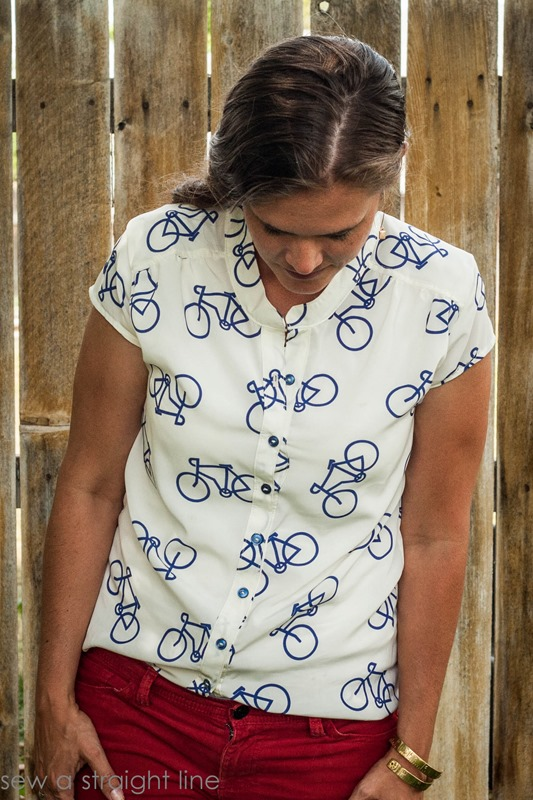 marigold bicycle top sew a straight line-6