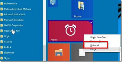 windows-10-uygulama-kaldırmak