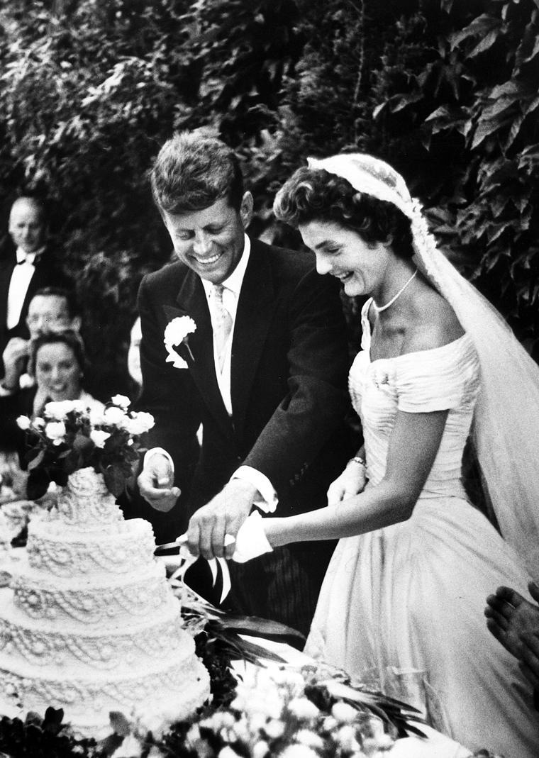 Jackie O and John F. Kennedy