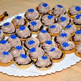 Superb Tarts! by Priyanka Gupta - Food & Drink Cooking & Baking ( cake, tart, blue, food, yummy )