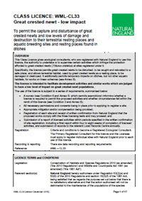 Class Licence: WML-CL33 PDF
