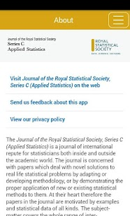 Journal of the RSS Series C - screenshot
