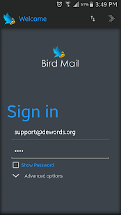 Bird Mail Email App - screenshot
