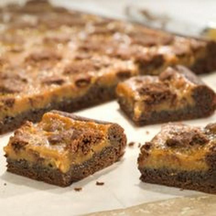 Peanut Butter Caramel Gooey Chocolate Cake Bars Recipe | Yummly