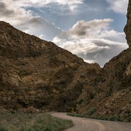 by Michael Keel - Landscapes Travel ( death valley, desert road )