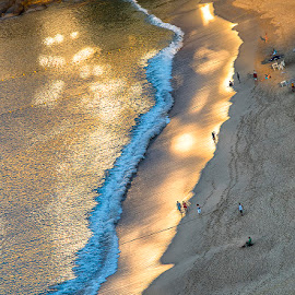 morning walk along the beach of Copacabana by Stanley P. - Nature Up Close Water