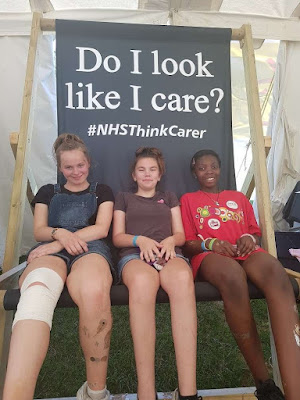 Three Young Carers attending Carers Trust, Young Carers Festival 2019
