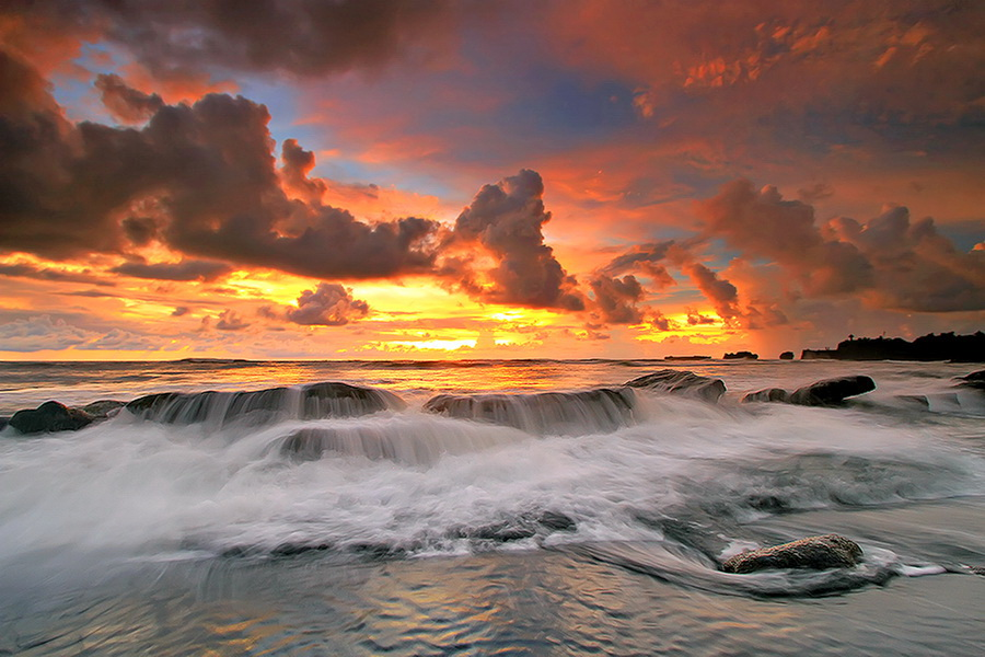 Mengening Beach by Agoes Antara - Landscapes Waterscapes ( beach waterscape landscape sunset sunrise wave cloud sune )