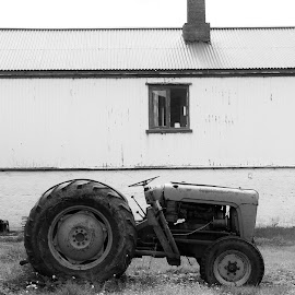 Old farm by Ólafur Ingi Ólafsson - Artistic Objects Still Life ( old house, farm, iceland, old farm, old, b6w, house, tractor )