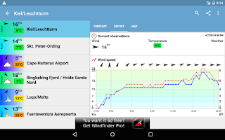 Screenshot of Windfinder