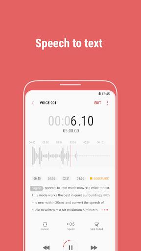 Samsung Voice Recorder screenshot 3