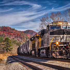 Chugging Down the Tracks by Pat Lasley - Transportation Trains ( coal train, train, tracks, transportation )