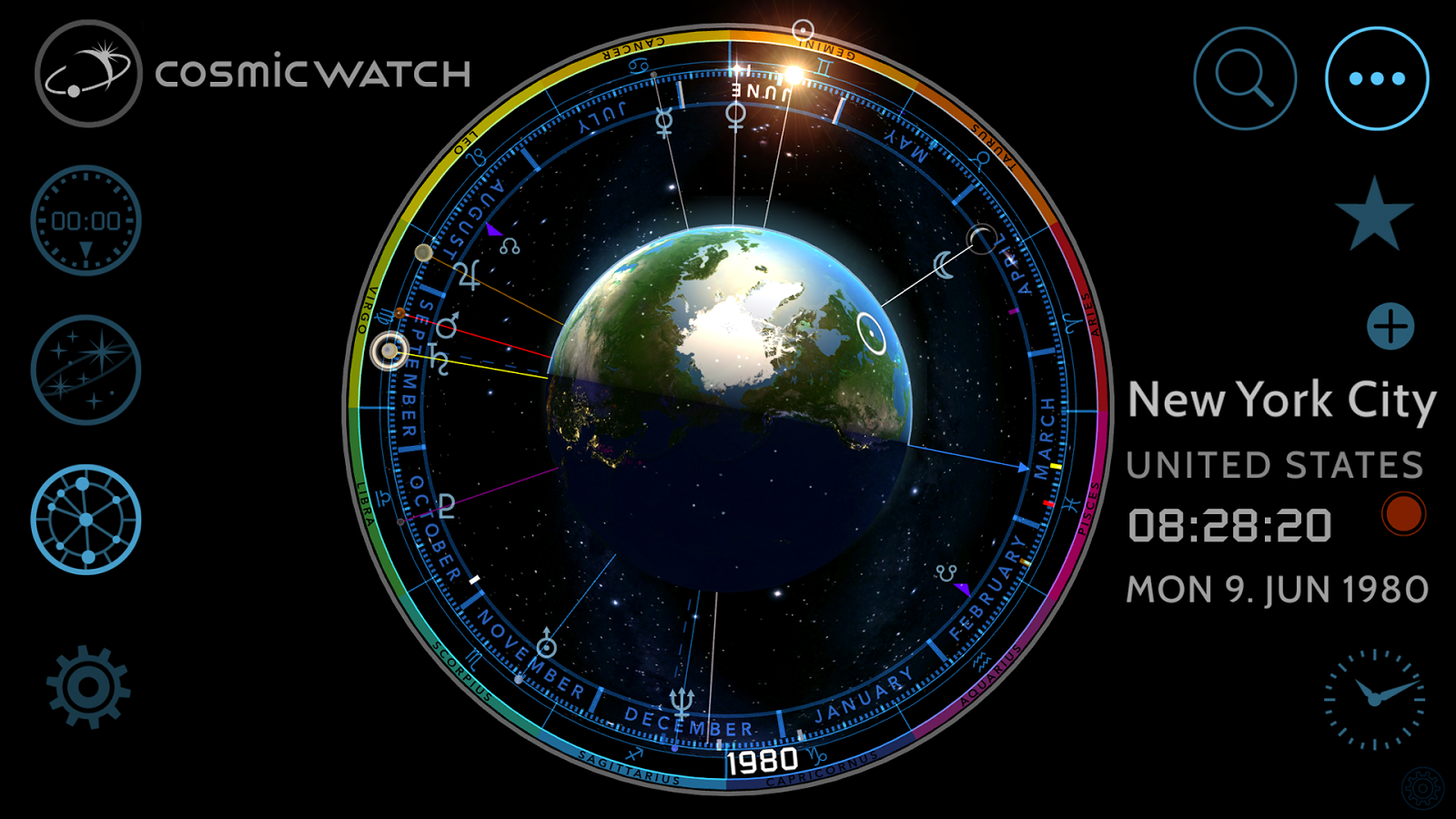 Cosmic-Watch Screenshot 2