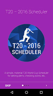 T20 2016 - Scheduler - screenshot