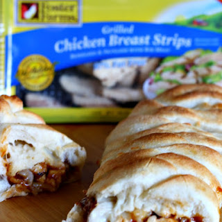 Barbecue Chicken Pizza Braid Made Easy with Foster Farms