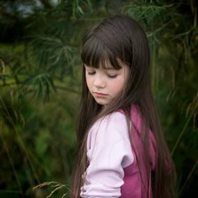 Emily-Storm by Tami Carlile - Babies & Children Children Candids ( beautiful, green, longlashes, trees, longhair )