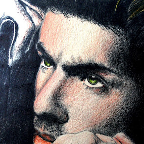 George Michael , zoals ze echt is ;-) in real colors ;) by David Van der Smissen - Drawing All Drawing