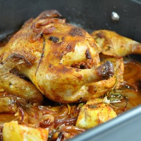Roasted Cornish Game Hens with a Lemon-Garlic-Parsley Marinade