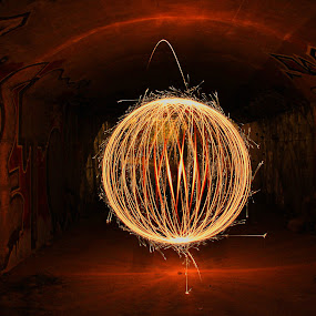electrca by Miguel Lopez De Haro - Abstract Light Painting ( light, sphere, painting, ball )